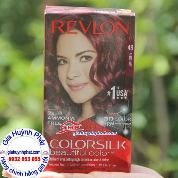 Kem nhuộm tóc màu đỏ tía #48 hàng mỹ xách tay Revlon colorsilk 3D giahuynhphat.com