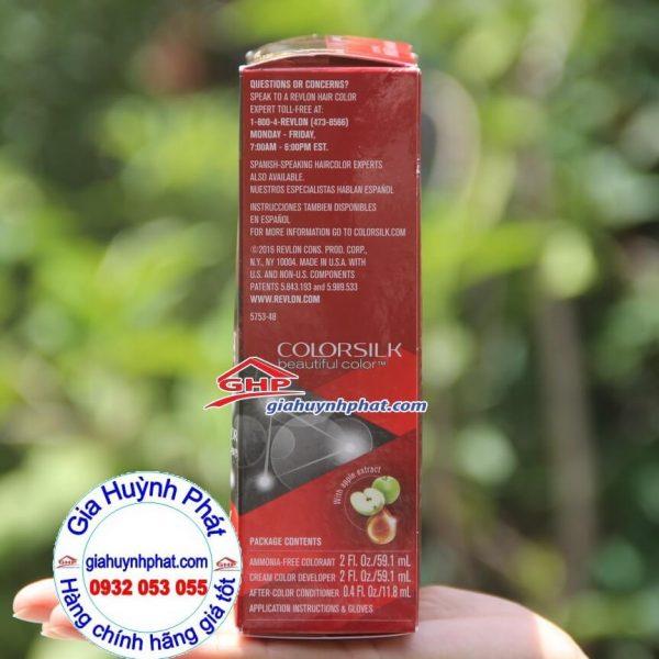 Thuốc nhuộm tóc Revlon colorsilk #48 chiết xuất táo hàng mỹ xách tay giahuynhphat.com