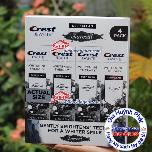 Kem đánh răng thanh hoạt tính crest 3D white www.giahuynhphat.com