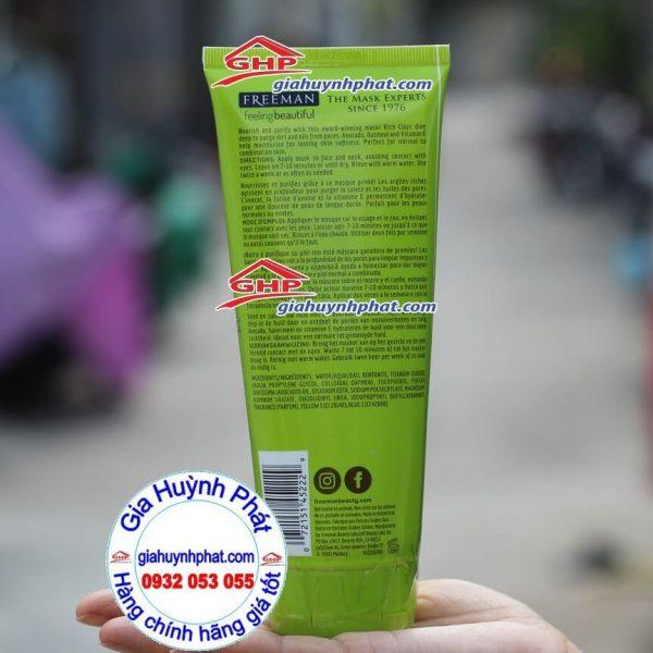 Mặt nạ Avocado oatmeal Freeman hàng Mỹ xách tay giahuynhphat.com